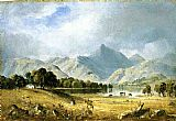 Sanford Robinson Gifford Canvas Paintings - A Sketch of Derwentwater