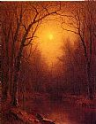 Sanford Robinson Gifford Famous Paintings - Indian Summer in the Bronx