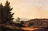 Famous Lake Paintings - Road Scenery near Lake George