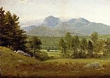 Mount Canvas Paintings - Sketch of Mount Chocorua, New Hampshire