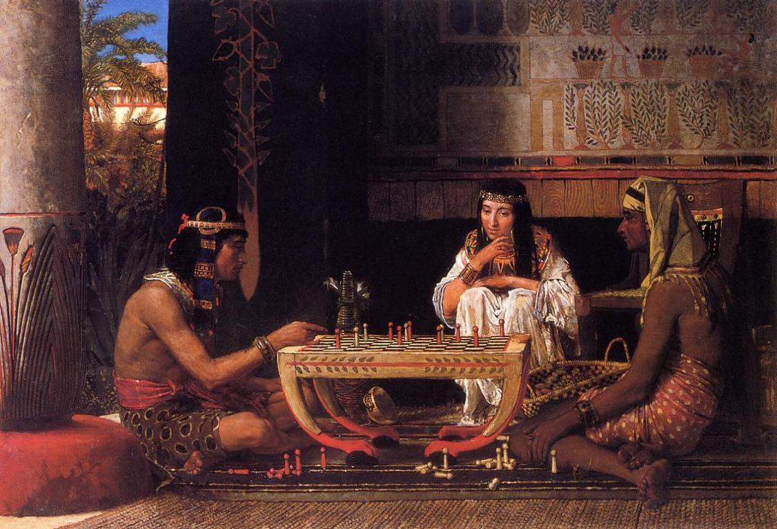 Sir Lawrence Alma-Tadema Egyptian Chess Players