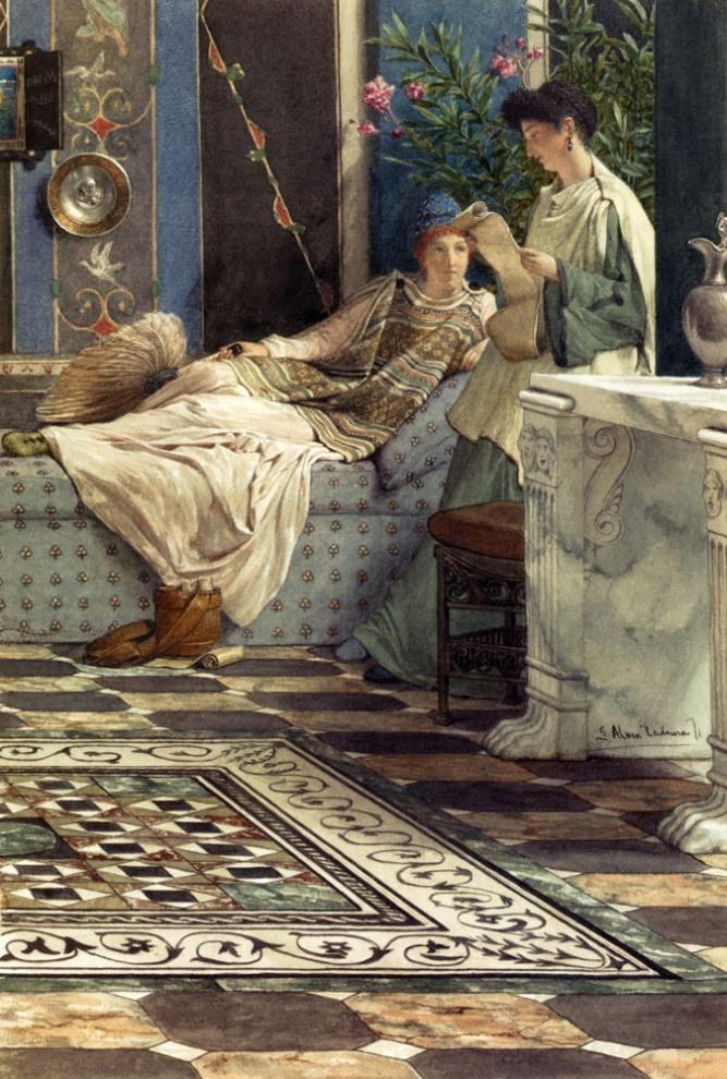 Sir Lawrence Alma-Tadema From An Absent One