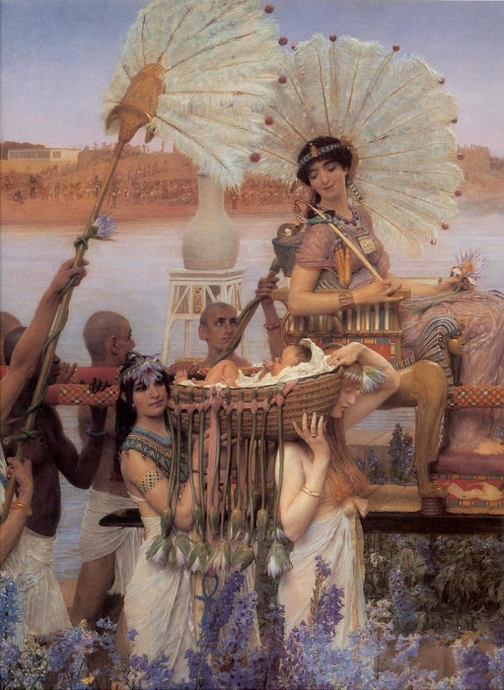 Sir Lawrence Alma-Tadema The Finding of Moses detail