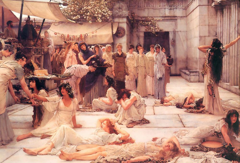 Sir Lawrence Alma-Tadema The Women of Amphissa