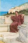 Sir Lawrence Alma-tadema Canvas Paintings - A Female Figure Resting