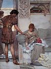 Sir Lawrence Alma-Tadema A Silent Greeting painting