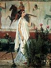 Sir Lawrence Alma-tadema Canvas Paintings - A greek woman