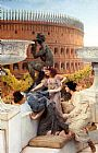 Sir Lawrence Alma-tadema Famous Paintings - The Colosseum
