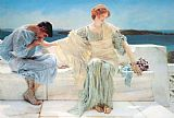 Sir Lawrence Alma-tadema Canvas Paintings - ask me no more