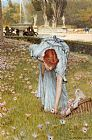 Sir Lawrence Alma-tadema Famous Paintings - flora