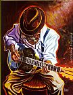blue Wall Art - Strummin' Blues