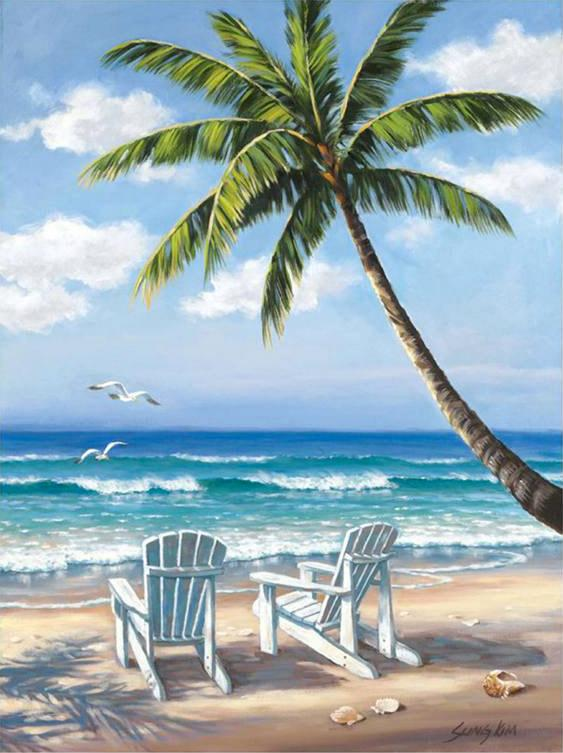 Sung Kim Hidden Beach Painting Framed Paintings For Sale