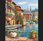 Famous Canal Paintings - Cafe at the Canal
