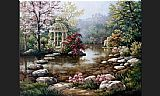 Sung Kim Gazebo painting