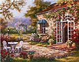 Sung Kim Spring Patio II painting
