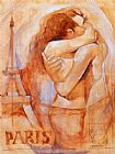 Famous Paris Paintings - Embrace in Paris