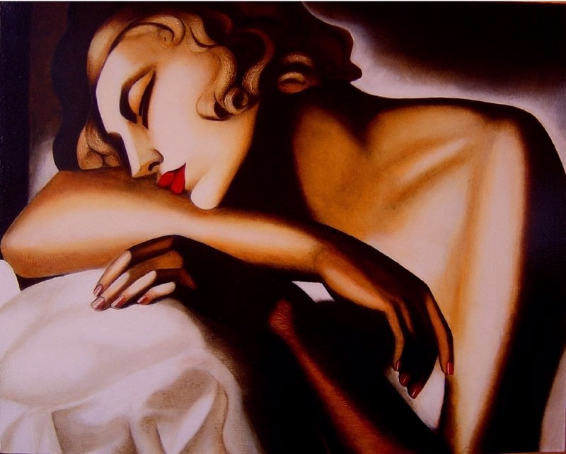 tamara de lempicka dormeuse painting framed paintings for sale