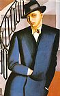 Tamara de Lempicka The Marquis DAfflitto on a Staircase painting
