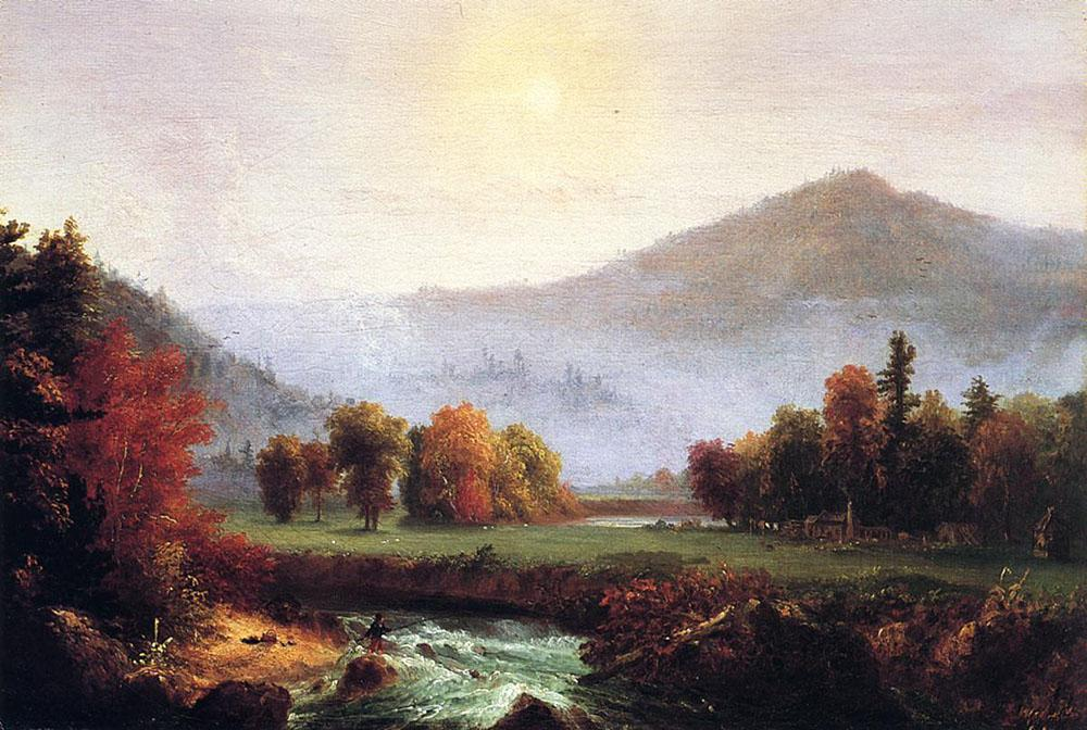 Thomas Cole A View in the United States of America in Autumn