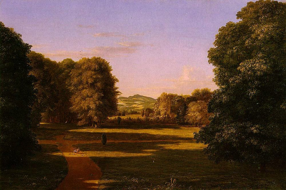 Thomas Cole The Gardens of the Van Rensselaer Manor House