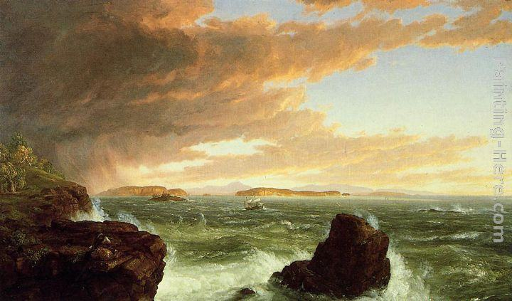 Thomas Cole View Across Frenchman's Bay from Mount Desert Island, After a Squall