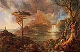 Thomas Cole Canvas Paintings - A Wild Scene