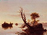 Thomas Cole American Lake Scene painting