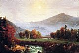 Thomas Cole Morning Mist Rising, Plymouth, New Hampshire painting