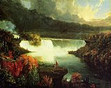 Thomas Cole Famous Paintings - Niagara Falls
