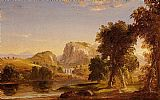 Thomas Cole Sketch for Dream of Arcadia painting