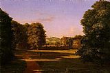 Van Canvas Paintings - The Gardens of the Van Rensselaer Manor House