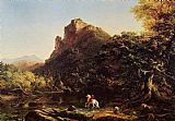 Thomas Cole The Mountain Ford painting