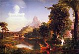 Thomas Cole Famous Paintings - The Voyage of Life Youth