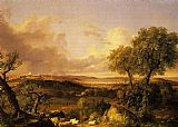 Thomas Cole View of Boston painting
