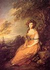 Thomas Gainsborough Mrs Sheridan painting