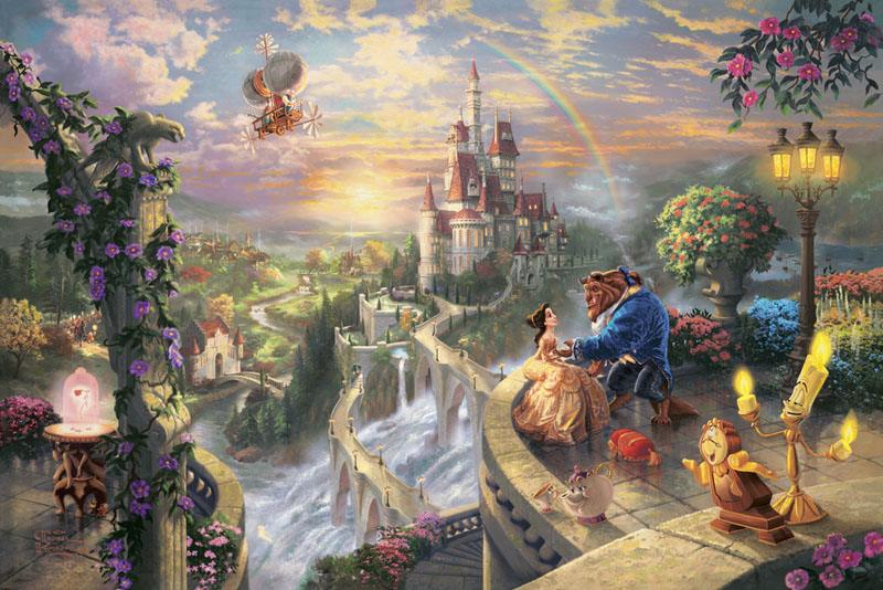 Thomas Kinkade Beauty and the Beast Falling in Love