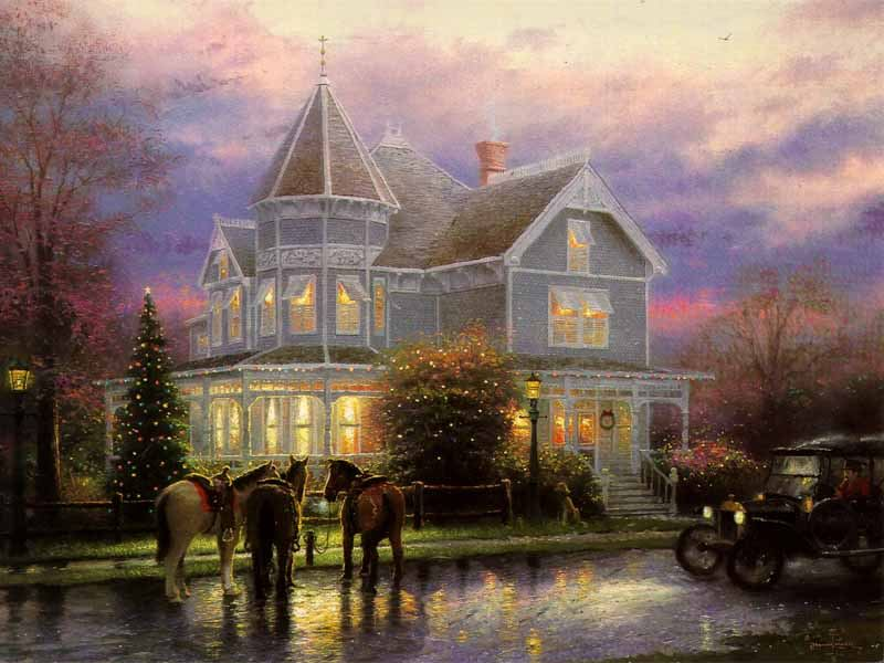 Thomas Kinkade CHRISTMAS MEMORIES painting | framed paintings for sale