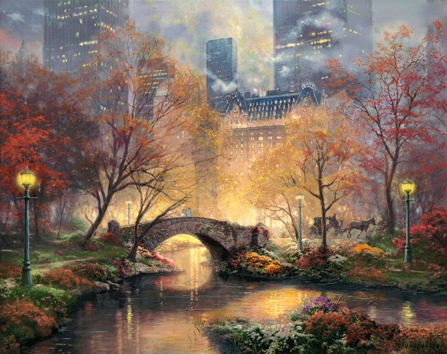 Thomas Kinkade Central Park in the Fall