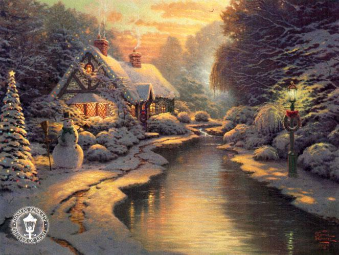 Thomas Kinkade Christmas Evening