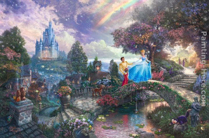 Thomas Kinkade Cinderella Wishes Upon a Dream