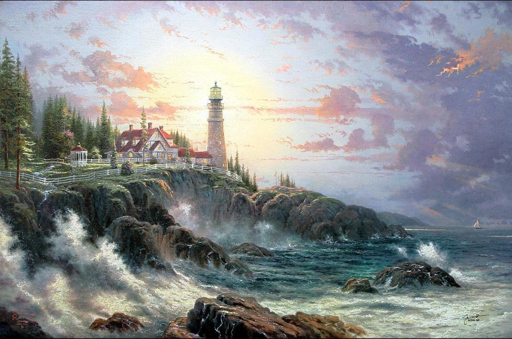 Thomas Kinkade Clearing Storms