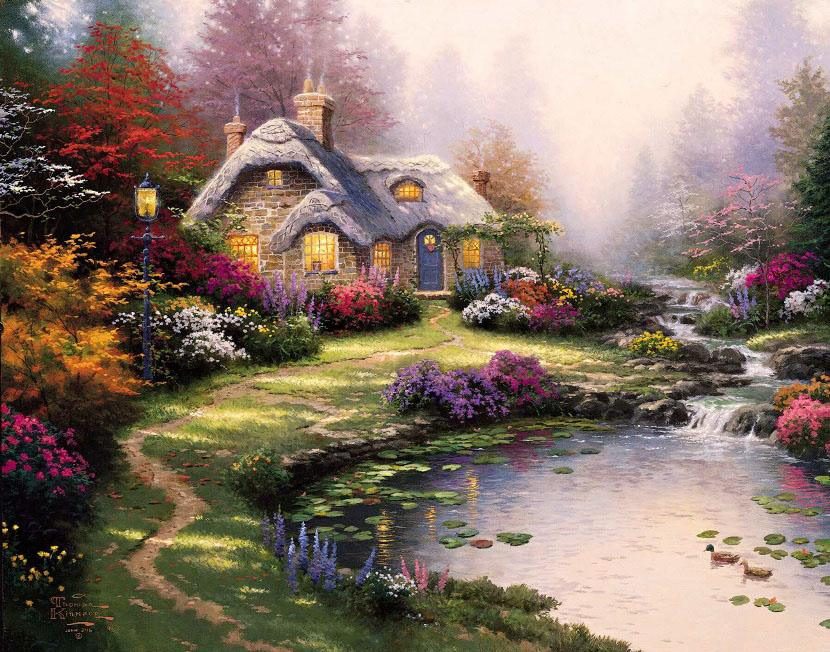 Thomas Kinkade Everett's Cottage