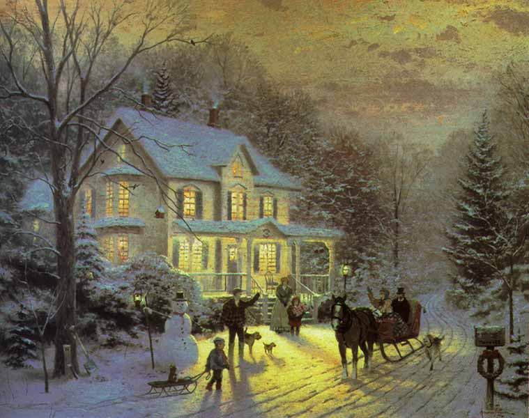 Thomas Kinkade HOME FOR THE HOLIDAYS