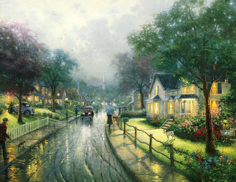 Thomas Kinkade HOMETOWN MEMORIES