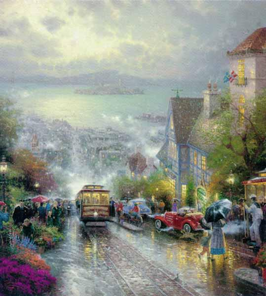 Thomas Kinkade HYDE STREET AND THE BAY SAN FRANCISCO
