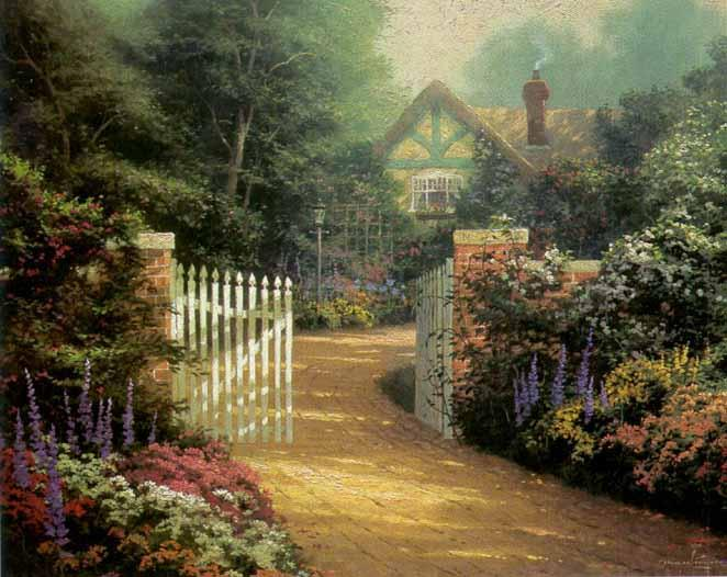 Thomas Kinkade Hidden Cottage