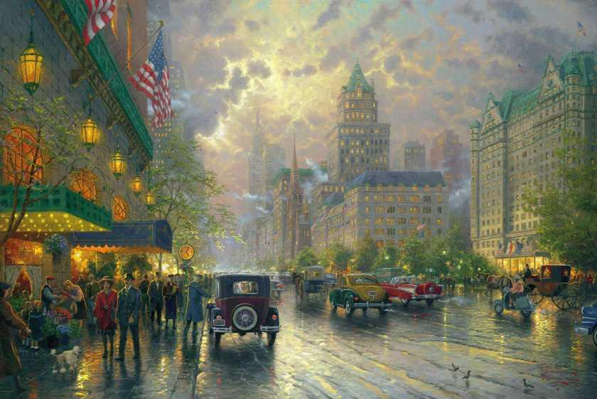 Thomas Kinkade New York 5th Avenue