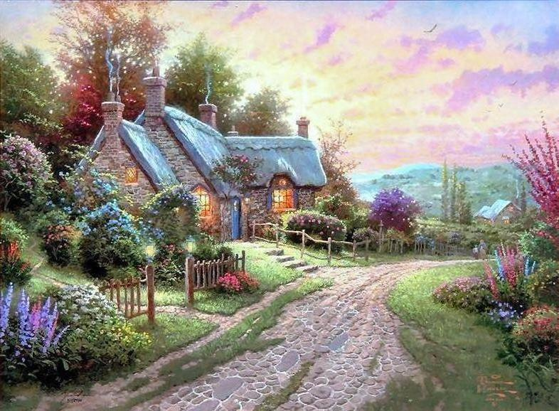 Thomas Kinkade Peaceful Time