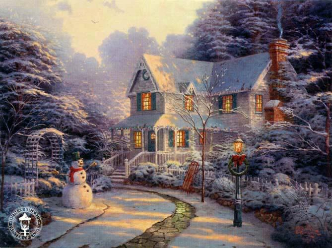 Thomas Kinkade The Night Before Christmas