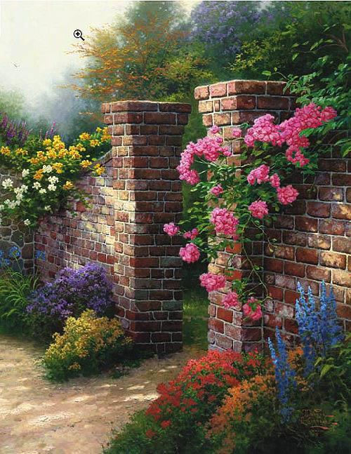 Thomas Kinkade The Rose Garden